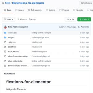 Flextensions Widgets for Elementor WordPress Plugin Github Page
